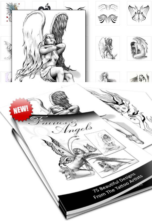 Fairies and Angels Tattoo Vorlagen - Feen und Engel - inklusive Master Reseller Lizenz