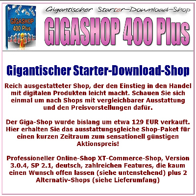 Giga-Shop 400 Plus - Gigantischer Starter-Download-Shop