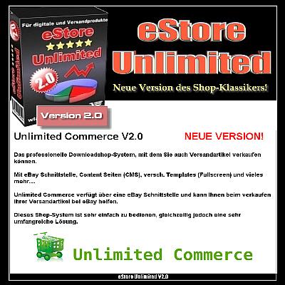eSTORE UNLIMITED V2.0 - Neue Version des Shop-Klassikers - Master Reseller